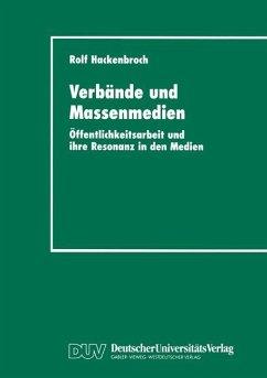 Verbände und Massenmedien - Hackenbroch, Rolf