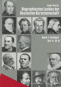 Biographisches Lexikon der Deutschen Burschenschaft 1. Politiker