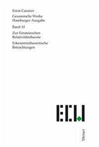 Gesammelte Werke. Hamburger Ausgabe / Zur Einsteinschen Relativitätstheorie - Cassirer, Ernst
