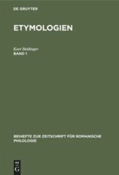 Kurt Baldinger: Etymologien. Band 1