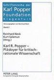 Karl R. Popper - Plädoyer für kritisch-rationale Wissenschaft
