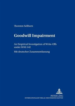 Goodwill Impairment - Sellhorn, Thorsten