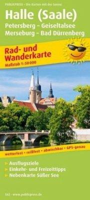 PublicPress Rad- und Wanderkarte Halle (Saale) ...