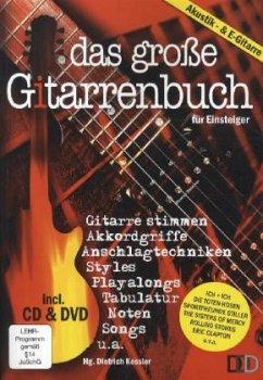 Das große Gitarrenbuch für Einsteiger, m. Audio-CD u. DVD