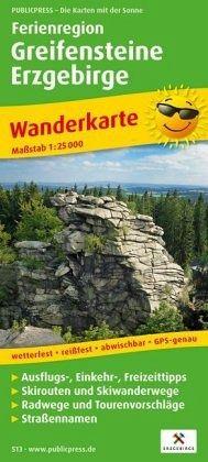 Wanderkarte Ferienregion Greifensteine Erzgebirge 1 : 25 000