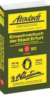 ´´Einwohnerbuch der Stadt Erfurt 1950 nebst Hoc...