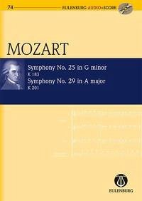 Sinfonie Nr. 25 g-Moll, Sinfonie Nr. 29 A-Dur