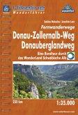 Hikeline Wanderführer Fernwanderwege Donauberglandweg Donau-Zollernalb-Weg 1 : 35 000