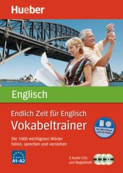 Endlich Zeit für Englisch - Vokabeltrainer, 3 Audio-CDs - Rudolph, Hildegard