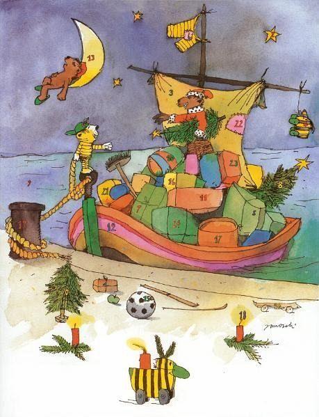 janoschs adventskalender weihnachtsschiff von janosch. Black Bedroom Furniture Sets. Home Design Ideas