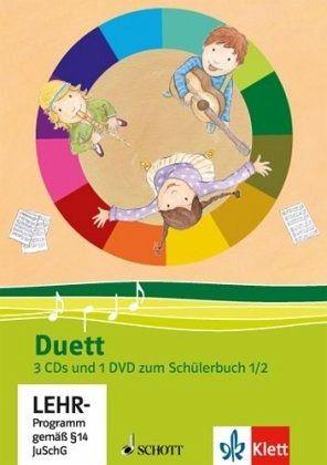 Duett - Neubearbeitung. 3 Audio-CDs und 1 Video-DVD zum Schülerbuch 1/2