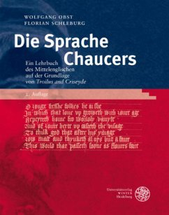 Die Sprache Chaucers - Obst, Wolfgang; Schleburg, Florian