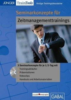 Seminarkonzepte für Zeitmanagementtrainings, CD...