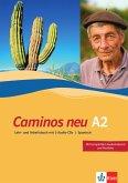 Caminos A2. Neue Ausgabe. Lehr- und Arbeitsbuch mit 3 Audio-CDs