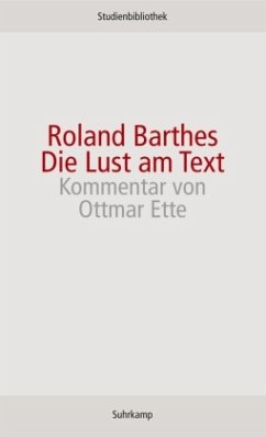 Die Lust am Text - Barthes, Roland