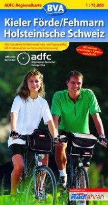 ADFC Regionalkarte Kieler Förde, Fehmarn, Holst...