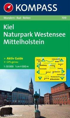 Kompass Karte Kiel, Naturpark Westensee, Mittel...