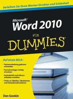Word 2010 für Dummies - Gookin, Dan