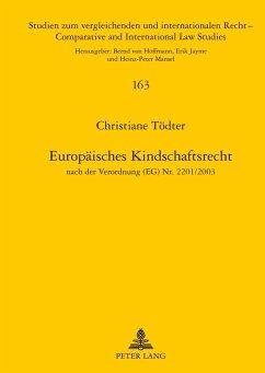 Europäisches Kindschaftsrecht - Tödter, Christiane