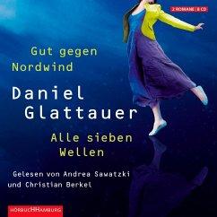 Gut gegen Nordwind / Alle sieben Wellen, 8 Audio-CDs - Glattauer, Daniel