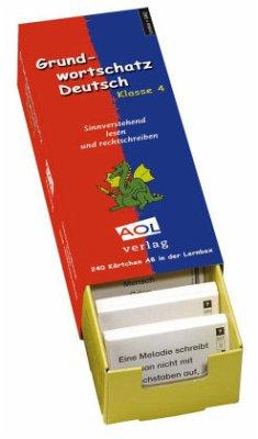 Grundwortschatz Deutsch, Klasse 4, m. Lernbox