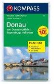 KOMPASS Wanderkarte Donau - von Donauwörth bis Regensburg