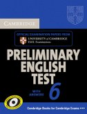 Cambridge Preliminary English Test 6. Self-study Pack
