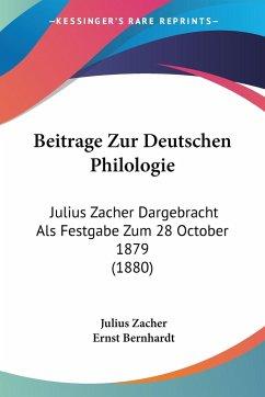 Beitrage Zur Deutschen Philologie