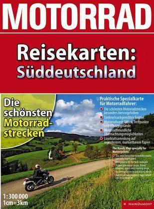 Motorrad Reisekarten Süddeutschland