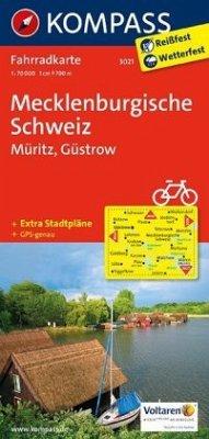 Kompass Fahrradkarte Mecklenburgische Schweiz, ...
