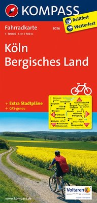 Kompass Fahrradkarte Köln, Bergisches Land / Ko...