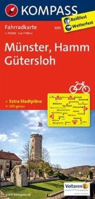 Kompass Fahrradkarte Münster, Hamm, Gütersloh / Kompass Fahrradkarten