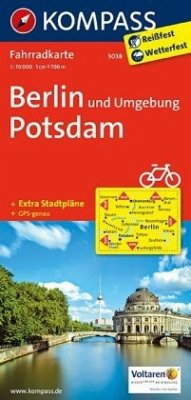 Kompass Fahrradkarte Berlin und Umgebung, Potsd...