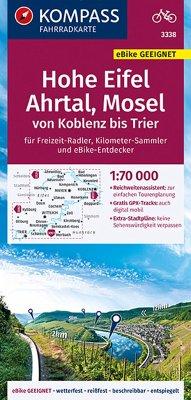 Kompass Fahrradkarte Hohe Eifel, Koblenz, Rhein...