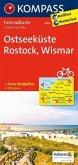 Kompass Fahrradkarte Ostseeküste, Rostock, Wismar / Kompass Fahrradkarten