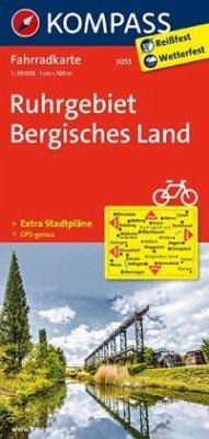 Kompass Fahrradkarte Ruhrgebiet, Bergisches Lan...