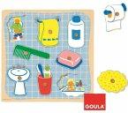 Jumbo Spiele - 53032 - Holzpuzzle Badezimmer