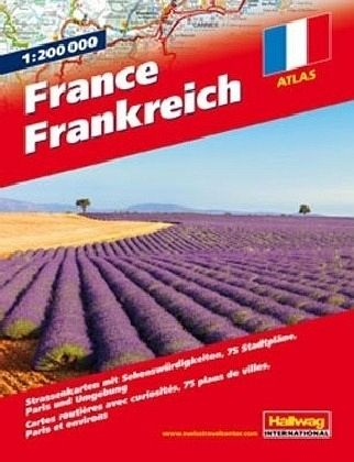 Frankreich Straßenatlas 1:200 000; Hallwag Atlas France