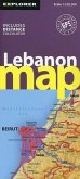 Lebanon Road Map 1 : 250 000