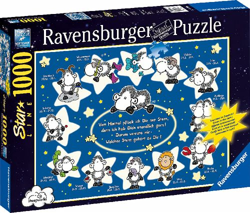 ravensburger 160686 sheepworld sternzeichen starline. Black Bedroom Furniture Sets. Home Design Ideas