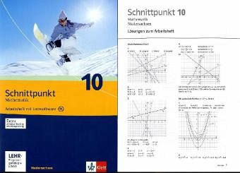 Schnittpunkt Mathematik 10. Schuljahr. Arbeitsheft. Ausgabe für Niedersachsen mit CD-ROM
