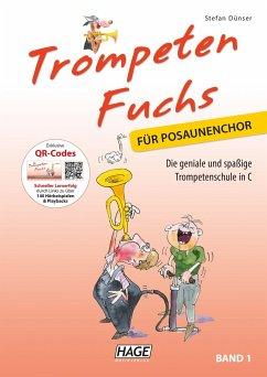 Trompeten Fuchs für Posaunenchor, m. Audio-CD - Dünser, Stefan