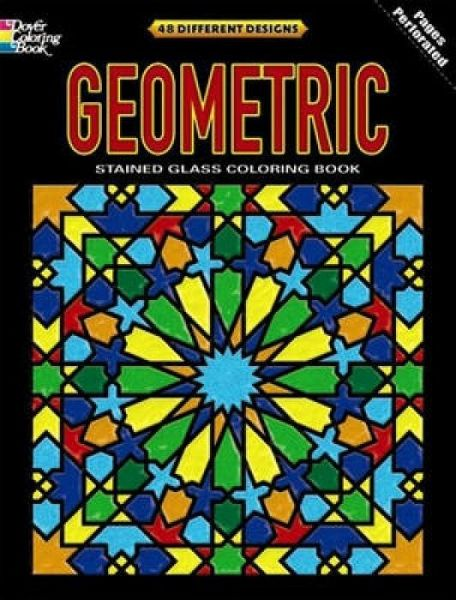 Geometric Stained Glass Coloring Book von Dover - englisches Buch ...