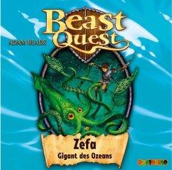 Zefa Gigant Des Ozeans Beast Quest Bd 7 1 Audio Cd Von Adam Blade Horbucher Portofrei Bei Bucher De