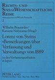 Lorenz von Steins 'Bemerkungen über Verfassung und Verwaltung' von 1889
