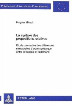 La syntaxe des propositions relatives - Mirault, Hugues