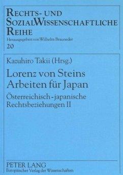 Lorenz von Steins Arbeiten für Japan