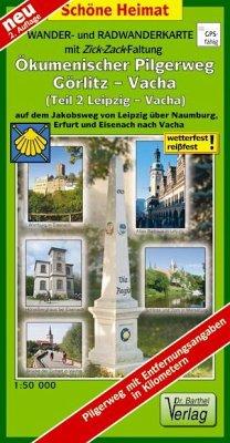 Doktor Barthel Karte Ökumenischer Pilgerweg Görlitz-Vacha