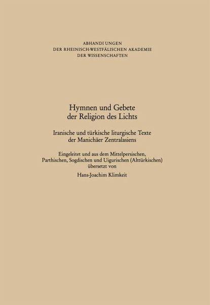 Hymnen und Gebete der Religion des Lichts - Buch - buecher.de