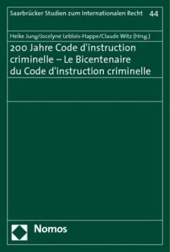 200 Jahre Code d´instruction criminelle - Le Bi...